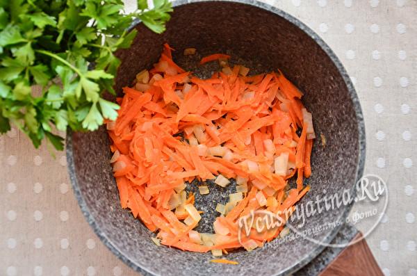 обжарка лука и моркови