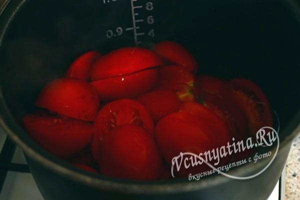 томаты в казане