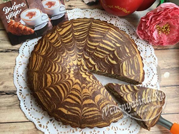 готовый сладкий пирог