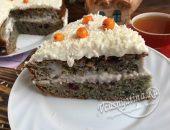 Торт «Негр в пене» с вареньем на кефире