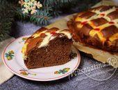 Пирог с творожной сеточкой