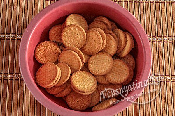 печенье в миске