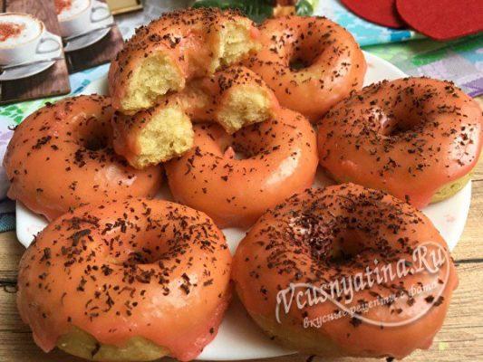 пышные вкусные пончики