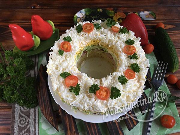 """Салат """"Невеста"""" с копченой курицей"""