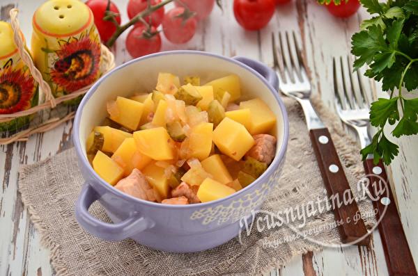 Классическая солянка с картошкой и мясом