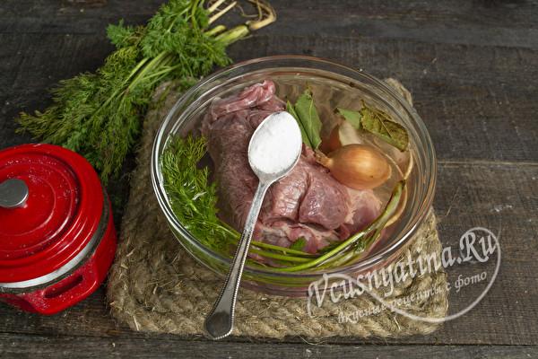 мясо из микроволновки