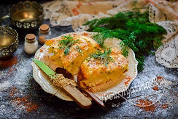 пирог заливной с луком