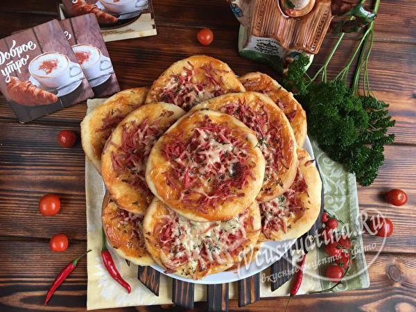 мини пицца с сыром