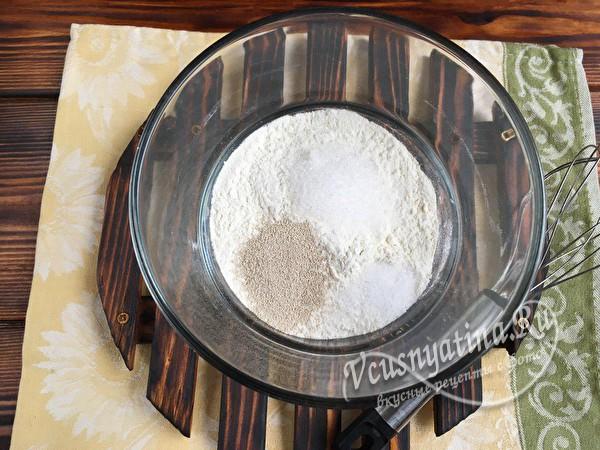сухие компоненты в миске