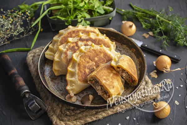Пирожки из быстрого теста на сковороде