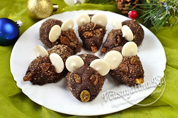 """Новогоднее пирожное """"Крыски"""""""