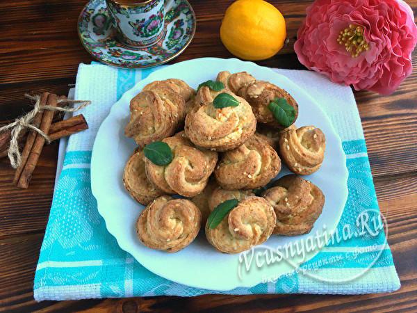 готовое творожное печенье