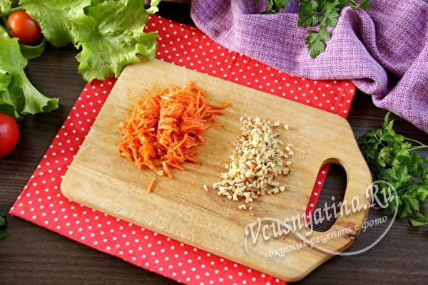 корейская морковка и орехи
