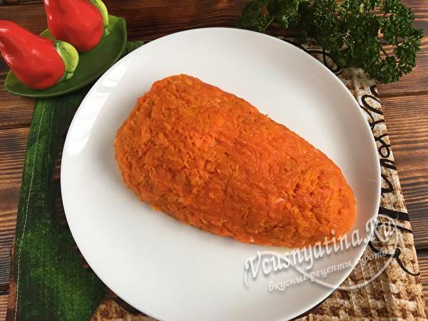 покрываем морковью