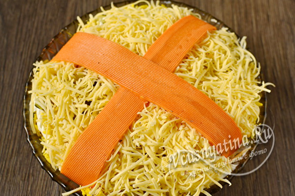 слой тортого сыра