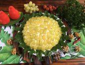 """Салат """"Тиффани"""" с виноградом и грецкими орехами"""