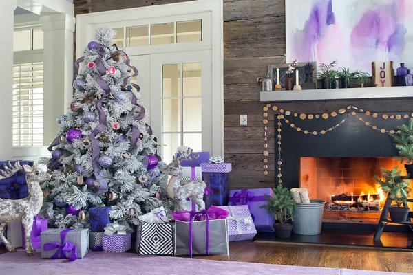 украшаем в фиолетовом цвете