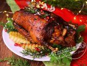 Запеченная утка с картошкой