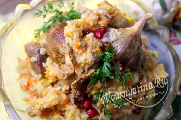 готовый рис с уткой