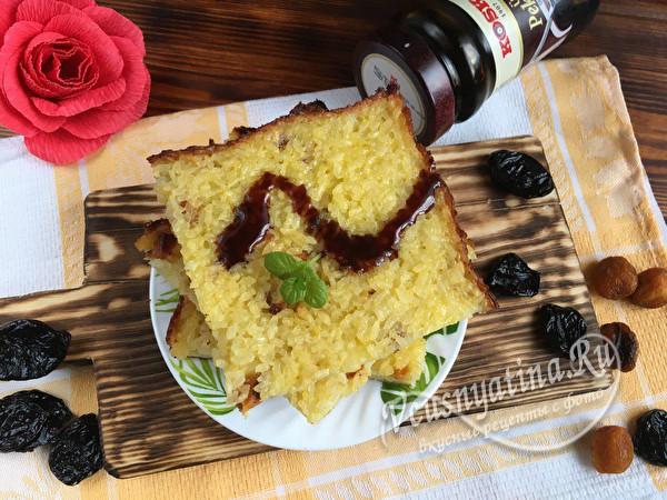 детская запеканка из риса