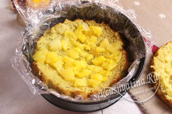 положить ананас