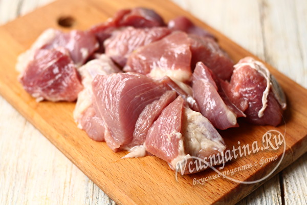 нарезать мясо индейки