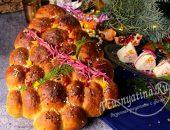 Новогодний закусочный хлеб