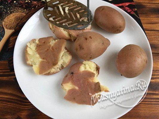 придавить картофель