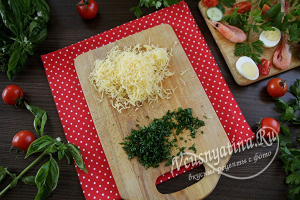 сыр и петрушка
