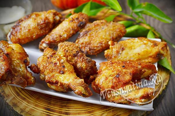 крылышки жареные на сковороде