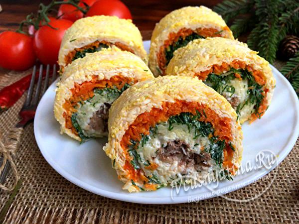 праздничный салат в новом виде