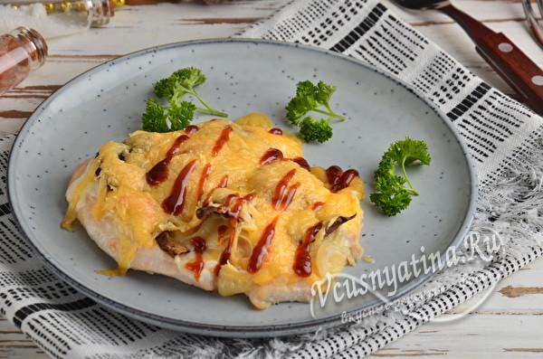 Мясо по-французски из куриного филе