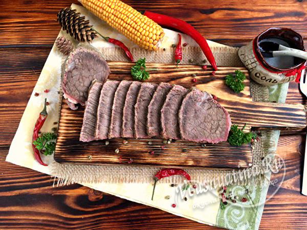 сваренное мясо в термосе