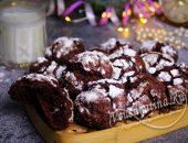 Шоколадное печенье «Трещинки»