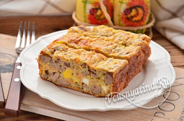 готовый пирог с печенью