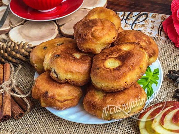 пончики с изюмом