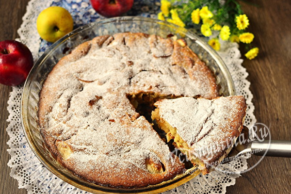 яблочный постный пирог