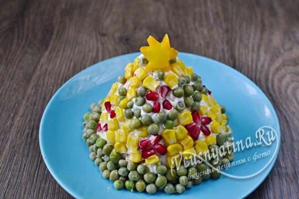 украсить салат в виде елочки