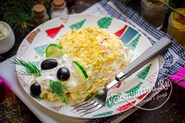 """Новогодний салат """"Крыса"""""""