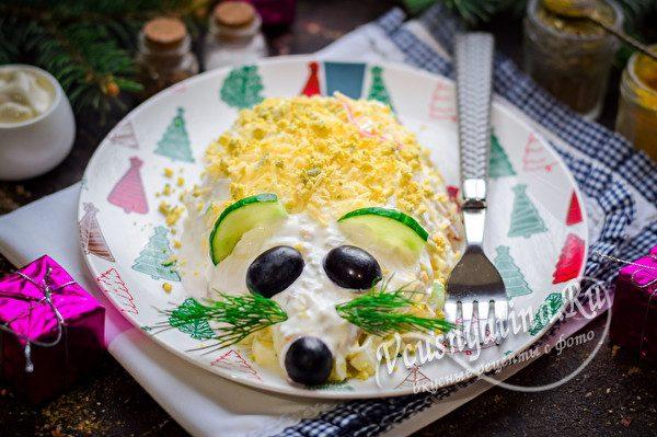новогодняя крыска-салат