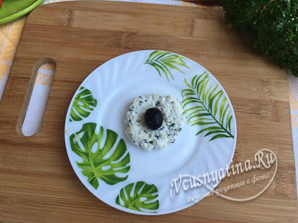 лепешка с оливкой