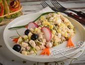 салат «Мышка» с курицей и сыром