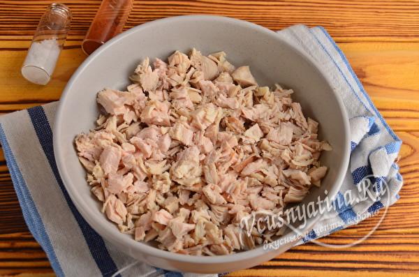 измельченное куриное мясо