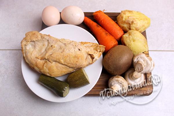 продукты на салат