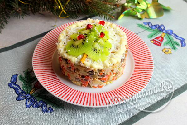 салат с индейкой слоеный