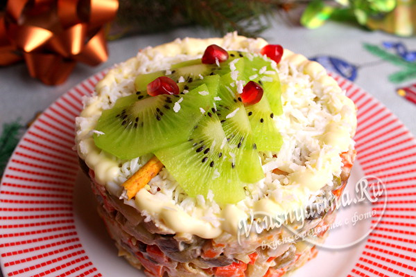 салат с индейкой на Новый год
