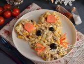 салат на Новый год 2020 в виде мышки