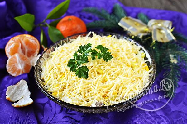 слоеный салат с селедкой