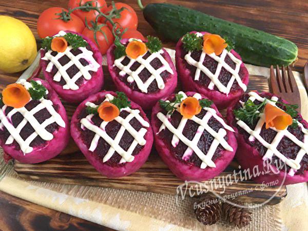 салат Селедка под шубой порционно