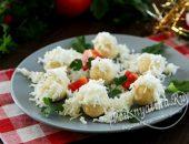 """Закуска """"Снежки"""" с курицей, сыром и яйцом"""